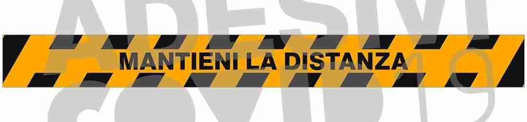 striscia colore giallo nero mantieni la distanza adesivi covid19 Lorenzdesign
