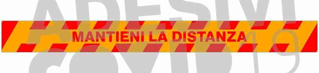 striscia colore giallo rosso mantieni la distanza adesivi covid19 Lorenzdesign