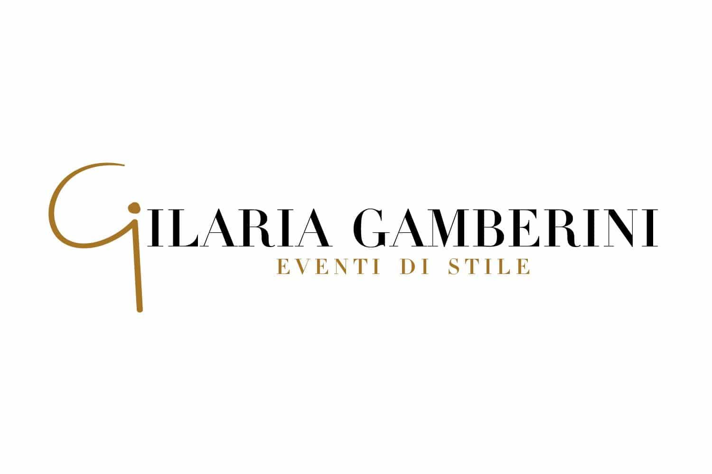 Logotipo Ilaria Gamberini eventi di stile fiero oro Lorenzdesign studio grafico