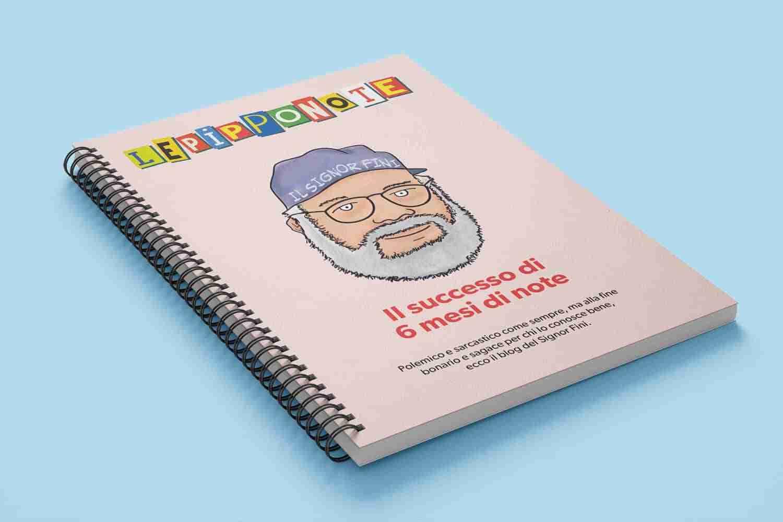 """Copertina del libretto """"Le PippoNote"""" colorata Lorenzdesign studio grafico"""