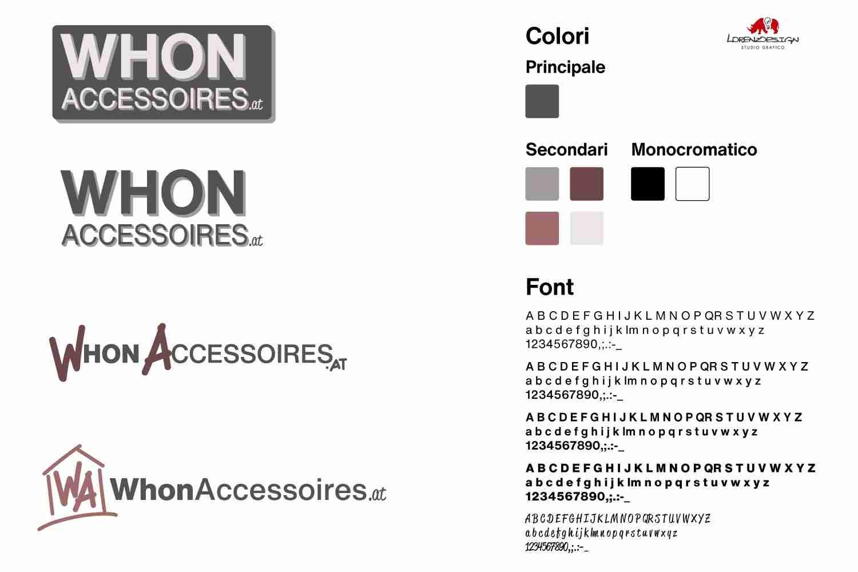 Wohn Accessoires proposte logo Lorenzdesign studio grafico